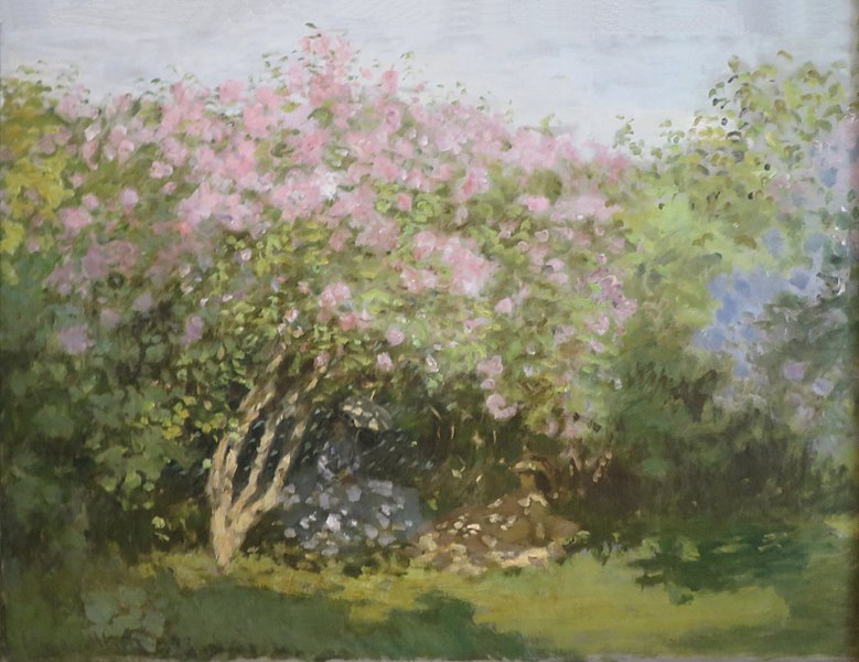 Lilacs in the Sun, by Claude Monet (France) 1872