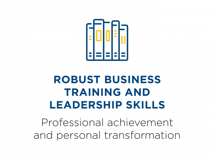 Robust training and leadership skills: professional achievement and personal transformation